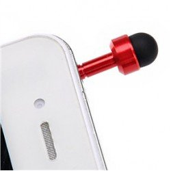 Replacement finger - dust jewel on the phone, tablets and other (red)