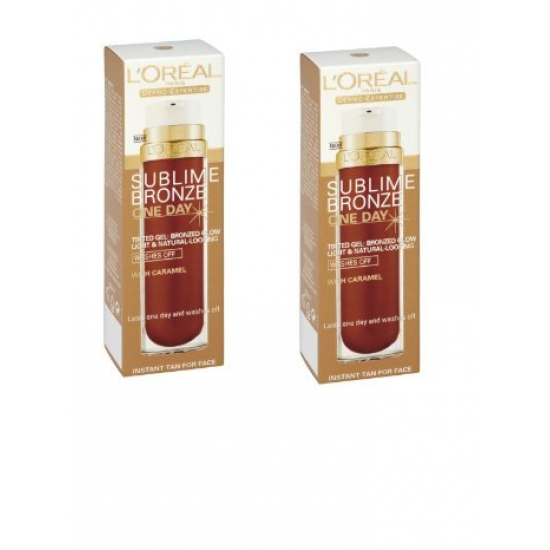 2x L'Oreal Sublime Bronze One Day 50ml