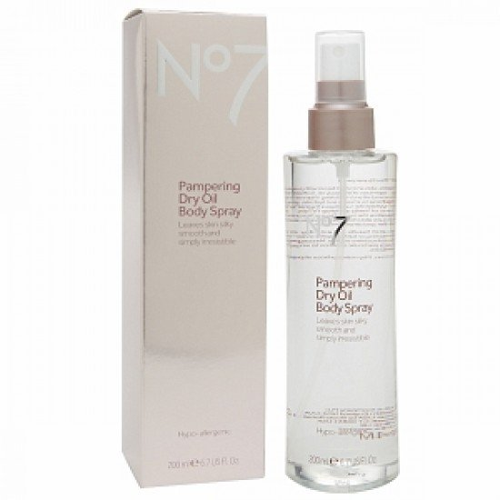 Boots No7 Pampering Dry Skin Oil Body Spray 200ml